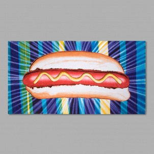 Kenny Scharf Hot Dog Beach Towel