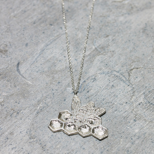 Kiki Smith Silver Bee Pendant