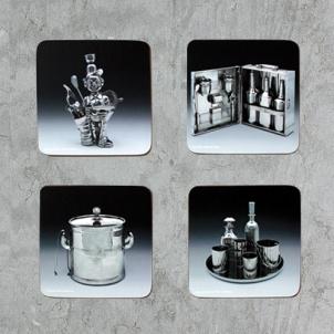 Jeff Koons Corkboard Coaster Set