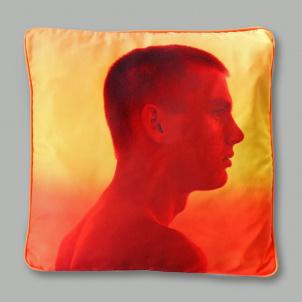 Jack Pierson Yellow Portrait Throw Pillow