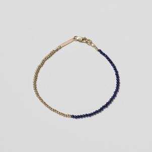 Lapis Lazuli and Gold Bead Bracelet