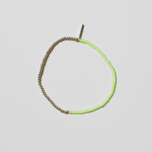 Neon Green and Gold Bracelet