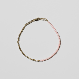 Pink Coral and Gold Bead Bracelet