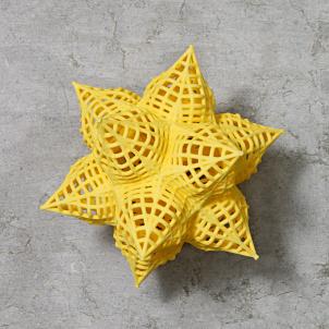 Frank Stella Star Ornament, Yellow