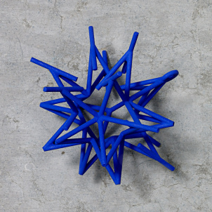 Frank Stella Star Ornament, Blue