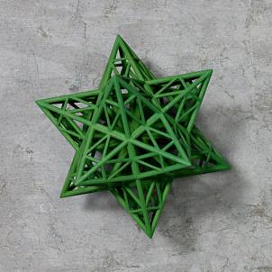 Frank Stella Star Ornament, Green