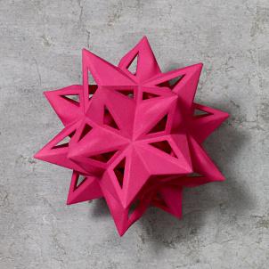 Frank Stella Star Ornament, Pink