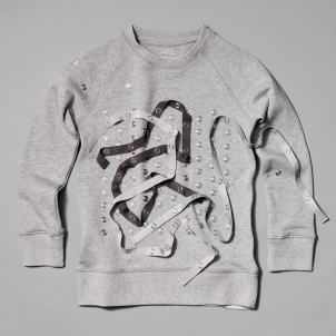 Kid's Snap Sweatshirt- Grey