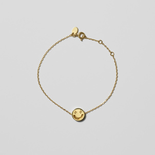 Gold Smiley Bracelet
