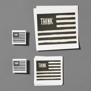 William Copley Think Button and Sticker Pack