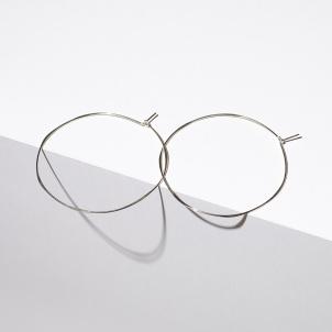 Extra Large Silver Hoop Earrings