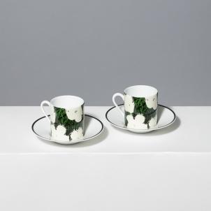 Andy Warhol White Flowers Porcelain Espresso Set