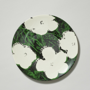 Andy Warhol White Flowers Porcelain Plate