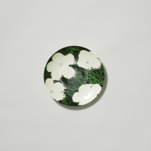 Andy Warhol White Flowers Porcelain Bread Plate