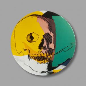 Andy Warhol Skull Porcelain Plate