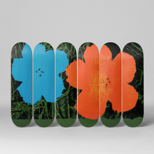 Andy Warhol Flowers Skate Deck Set/6