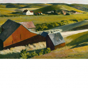 Edward Hopper (Cobb's Barn and Distant Houses), medium (18.7 x 26 in.) print