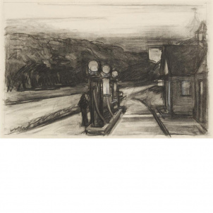 Edward Hopper, Study for Gas, medium (18.3 x 26 in.) print