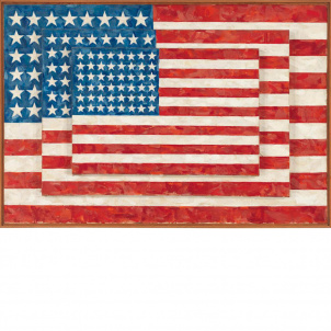 Jasper Johns, Three Flags, medium (19.18 x 26 in.) print
