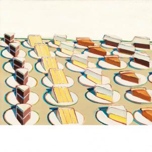 Wayne Thiebaud, Pie Counter, medium (22 x 26 in.) print