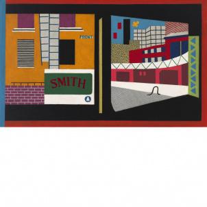 Stuart Davis, House and Street, medium (17.42 x 26 in.) print