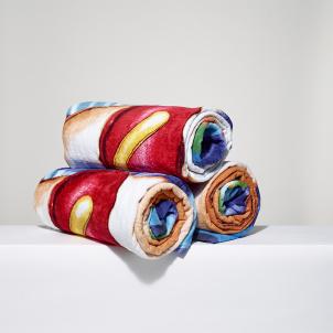 Kenny Scharf Hot Dog Beach Towel