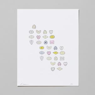 Amanda Wachob Hand Embellished Letterpress Poem